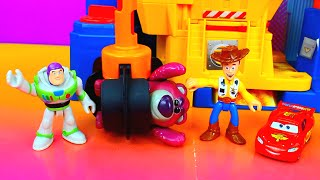 Download Disney Pixar Cars Lightning Mcqueen and Buzz Lightyear save Toy Story Woody Just4fun290 Video