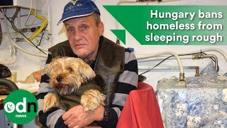 Download Hungary has banned the homeless from sleeping rough Video