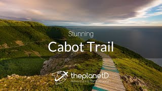 Download Cabot Trail of Cape Breton, The Stunning Skyline Trail at Sunset Video