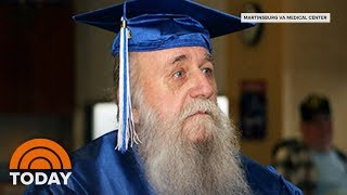 Download Vietnam War Veteran, 78, Receives High School Diploma | TODAY Video