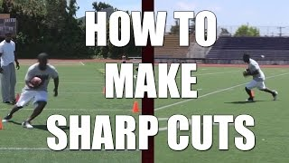 Download How to make running back sharp cuts : Football Tips Video