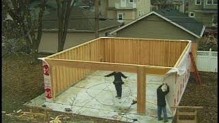 Download Garage Construction Time Lapse Video