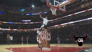 Download Awesome Dunk Over 6 People! | Bulls Dunk Contest with Guy Dupuy, C.J. Champion | 01.09.17 Video