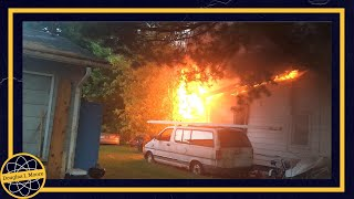 Download House on Fire May 28, 2017 Williamstown, WV Video