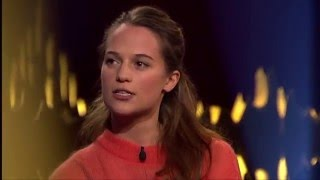 Download Interview with Alicia Vikander | SVT/NRK/Skavlan Video