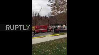 Download USA: Ohio assailant dead following attack at university campus Video