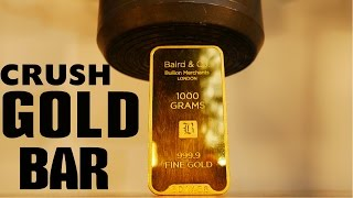 Download Crushing $40,000 GOLD BAR with Big Hydraulic Press! Video