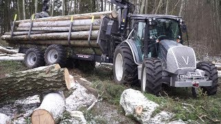 Download Logging with new Valtra A124 forestry tractor, the first load Video