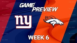 Download New York Giants vs. Denver Broncos | Week 6 Game Preview | NFL Playbook Video