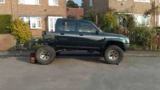 Download modified toyota hilux pickup. rear coil spring conversion Video