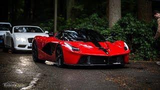 Download Supercars Arriving @Cars & Business - LaFerrari, Veyron, Aventadors, Olsson Huracán.. - LOUD Sounds! Video
