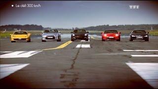 Download Défi : Porsche 911 vs Ferrari 458 Spider vs Corvette ZR1 vs Audi R8 vs Nissan GT-R Video