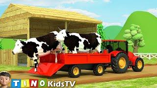 Download Farm Animal Houses Construction for Kids   Mini Excavator & Construction Trucks for Children Video