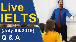 Download IELTS Live - Question and Answer Session - Members Video
