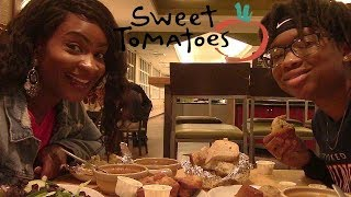 Download SWEET TOMATOES ALL YOU CAN EAT BUFFET MUKBANG! QUEEN IS PREGNANT! Video
