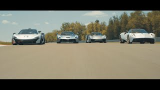Download La Ferrari vs. Mclaren P1 vs. Pagani Huayra vs. Porsche 918 with Miller Motorocars (4K) Video
