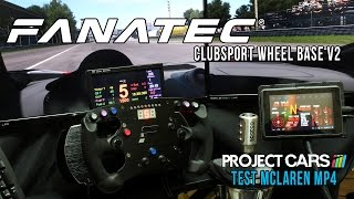 Download New Fanatec Clubsport WheelBase V2 - Test Project CARS McLaren Mp4 @ Monza Video