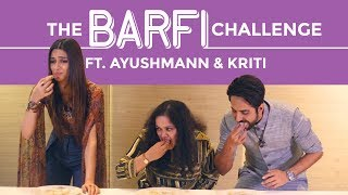 Download Bareilly Ki Barfi Food Challenge Ft. Ayushmann Khurrana & Kriti Sanon | Sweet Challenge | Pinkvilla Video