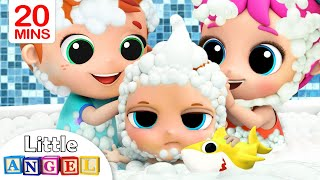 Download Baby Bath Time with Brother and Sister | Nursery Rhymes & Kids Songs Little Angel Video