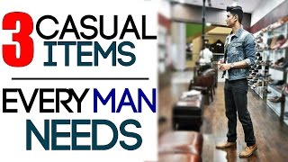 Download 3 CASUAL Men's Style ITEMS EVERY MAN NEEDS | Casul Outfits for Men | Mayank Bhattacharya Video