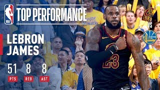 Download LeBron James' Epic 51 Point Performance | Game 1 Of The '17-'18 Finals Video