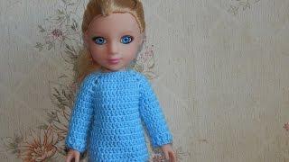 Download Одежда для кукол крючком. Свитер. Video