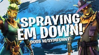 Download SPRAYING 'EM DOWN! Duos w/ Symfuhny (Fortnite BR Full Match) Video