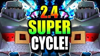 Download FASTEST MEGA KNIGHT CYCLE EVER!! CRAZY 2.4 CYCLE DECK DOMINATES!! Video