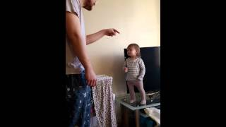 Download Adorable daddy/daughter standoff Video