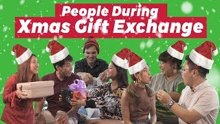 Download People During Christmas Gift Exchange Video