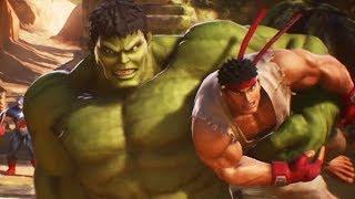 Download HULK and RYU Team Fight Scene (MARVEL vs. CAPCOM: INFINITE) Video