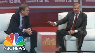 Download Senator Lindsey Graham Says Brett Kavanaugh 'Was Treated Like Crap', Gets Booed | NBC News Video
