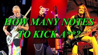 Download 12 cool bass riffs from 1 to 12 notes Video