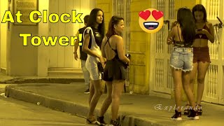 Download Cartagena Colombia at Night Clock Tower Walled City & Getsemani 4K Video