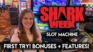 Download NEW! Shark Week Slot Machine!! Long Session Full Of BONUSES and Random Features!! Video