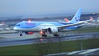 Download Airplanes landing and taking off Video