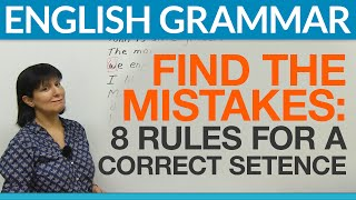 Download 8 English Sentences: Find the Mistakes Video