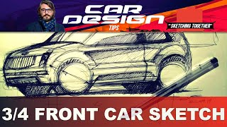 Download Car sketch tutorial by Luciano Bove: 3/4 Front View Video