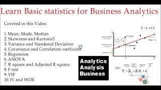 Download Learn Basic statistics for Business Analytics Video