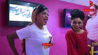 Download Bobrisky and Toyin Abraham dance Shaku Shaku at the Ikeja City Mall Video