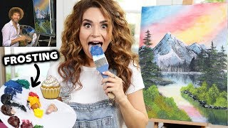 Download I Tried Following A Bob Ross Tutorial Using Frosting! Video