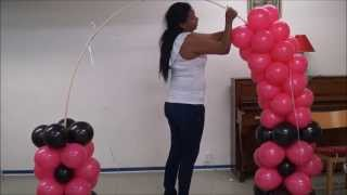 Download ARCO DE OREJAS DE MINNIE MOUSE CON GLOBOS COMO HACERLO Video