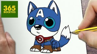 Download COMO DIBUJAR PERRO CAPITAN AMERICA KAWAII PASO A PASO - Dibujos kawaii faciles - How to draw a DOG Video