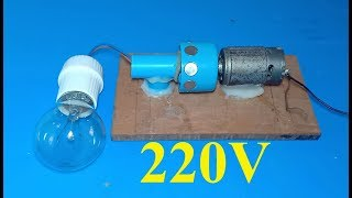 Download DIY 220V generator , How to make a powerful dynamo , amazing science school project Video