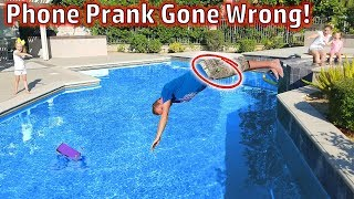 Download Phone in the Swimming Pool Prank on My Mom! (Prank Gone Wrong) Video