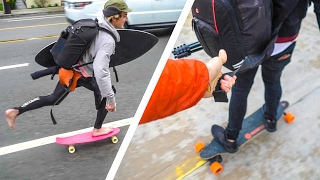 Download SKATE SQUAD BEACH TOWING! Video