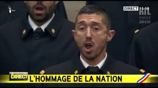 Download VIDÉO - La Marseillaise chantée en intégralité pendant l'hommage - RTL - RTL Video