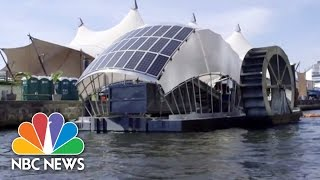 Download Solar-Powered Water Wheel Cleans Baltimore Harbor   NBC News Video