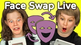Download KIDS REACT TO FACE SWAP CHALLENGE Video