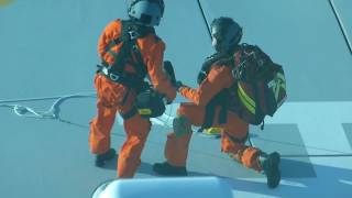 Download Medical emergency evacuation from a cruise ship at sea Video